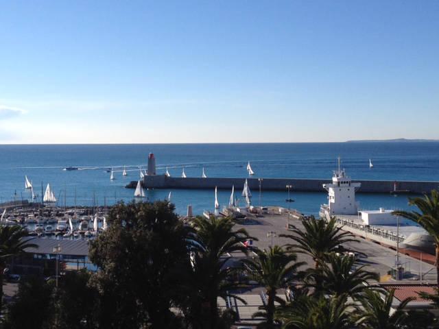 Nice port, superbe 3p vue mer et port